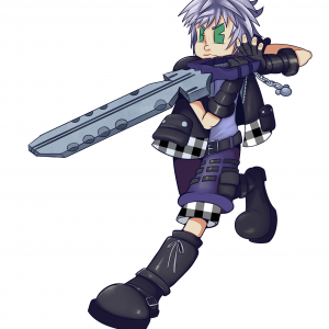 Drawing of the character Riku from the video game Kingdom Hearts